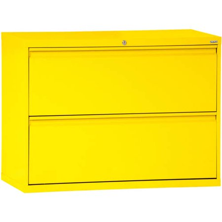 Sandusky Lee 800 Series 30″ 2-Drawer Full Pull Lateral File, Yellow