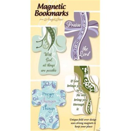 Bookmark-Magnetic Cross/Inspirational Sayings-Set of 4 ()
