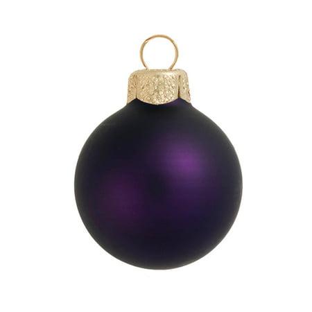 Glass Ball Ornament (Northlight 28ct Matte Glass Ball Christmas Ornament Set 2
