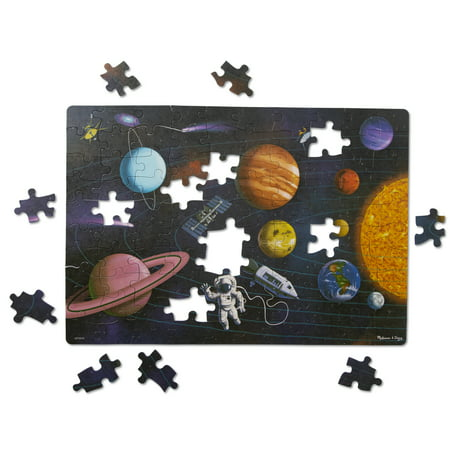 Melissa & Doug Natural Play Cardboard Jigsaw Floor Puzzle: Outer Space (100 Pieces, Great Gift for Girls and Boys - Best for 6, 7, 8 Year Olds and Up) Melissa & Doug Toys Dinosaur Floor Puzzle