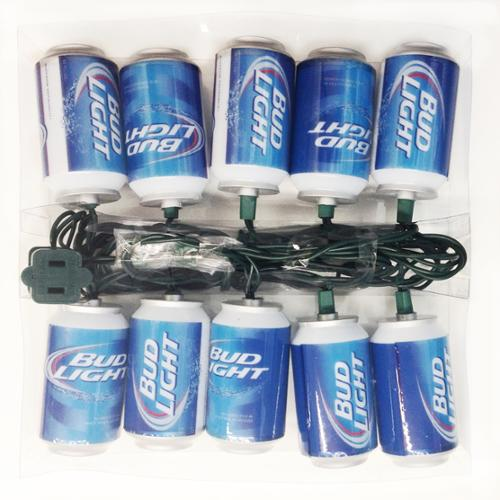 Kurt Adler 10 Light Bud Light Beer Can New Logo Christmas Lights