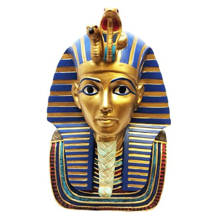LARGE EGYPTIAN PHARAOH KING TUT BUST MASK STATUE TUTANKHAMUN FIGURINE