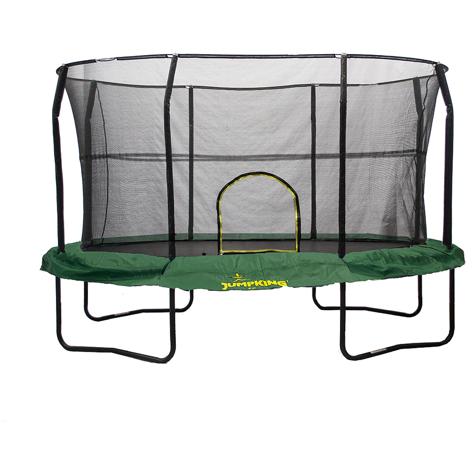 Jumpking Oval 8 x 12 Foot Trampoline, with Safety Enclosure, Green (Box 1 of 2)