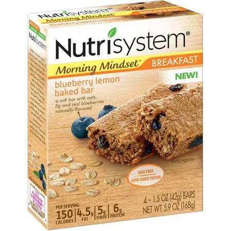 Nutrisystem Morning Mindset Breakfast Blueberry Lemon Baked Bars  1 5 Oz  4 Count