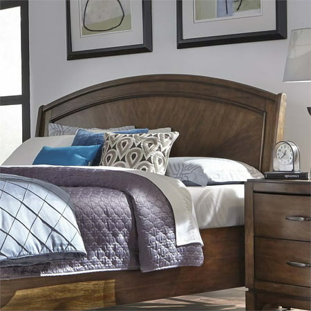 Liberty Furniture Avalon III King Platform Headboard in Pebble Brown