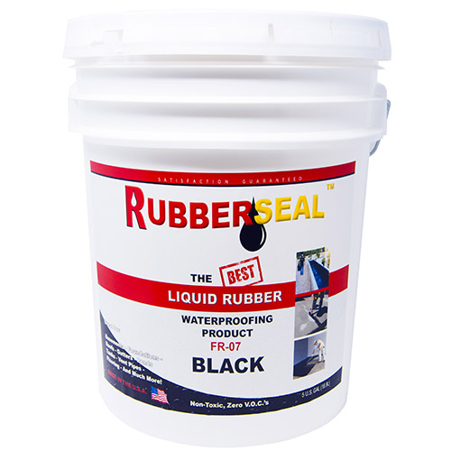 Rubberseal Liquid Rubber Waterproofing and Protective Coating (5 Gallon, Black)