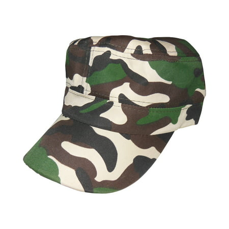 Woodland Camo Camouflage Military Mao Hat Cap Costume - Military Costume Hats