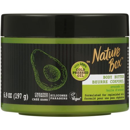 Nature Box Body Butter - for Replenished Skin, with 100% Cold Pressed Avocado Oil, 6.9 ounce