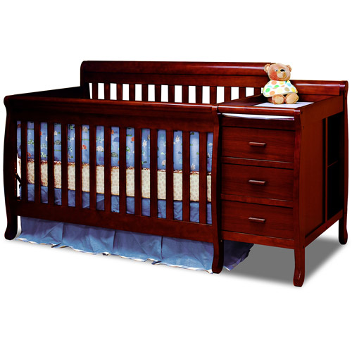 AFG Baby Furniture Kimberly 3-in-1 Convertible Crib Cherry