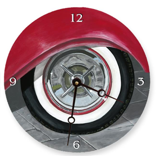 Lexington Studios 23077R White Wall Tire Round Clock by Lexington Studios