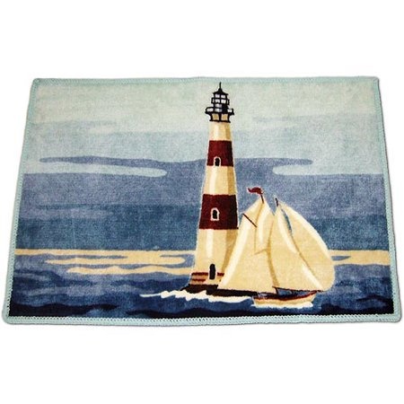 Painterly Lighthouse Bath Rug Walmart Com