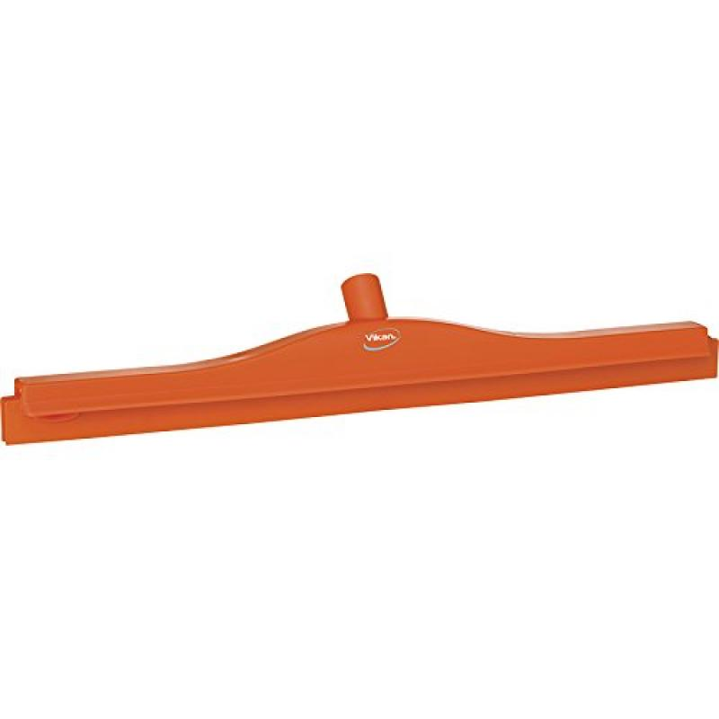 "Vikan 77147 Rubber Polypropylene Frame Double Blade Squeegee, 24"", Orange"