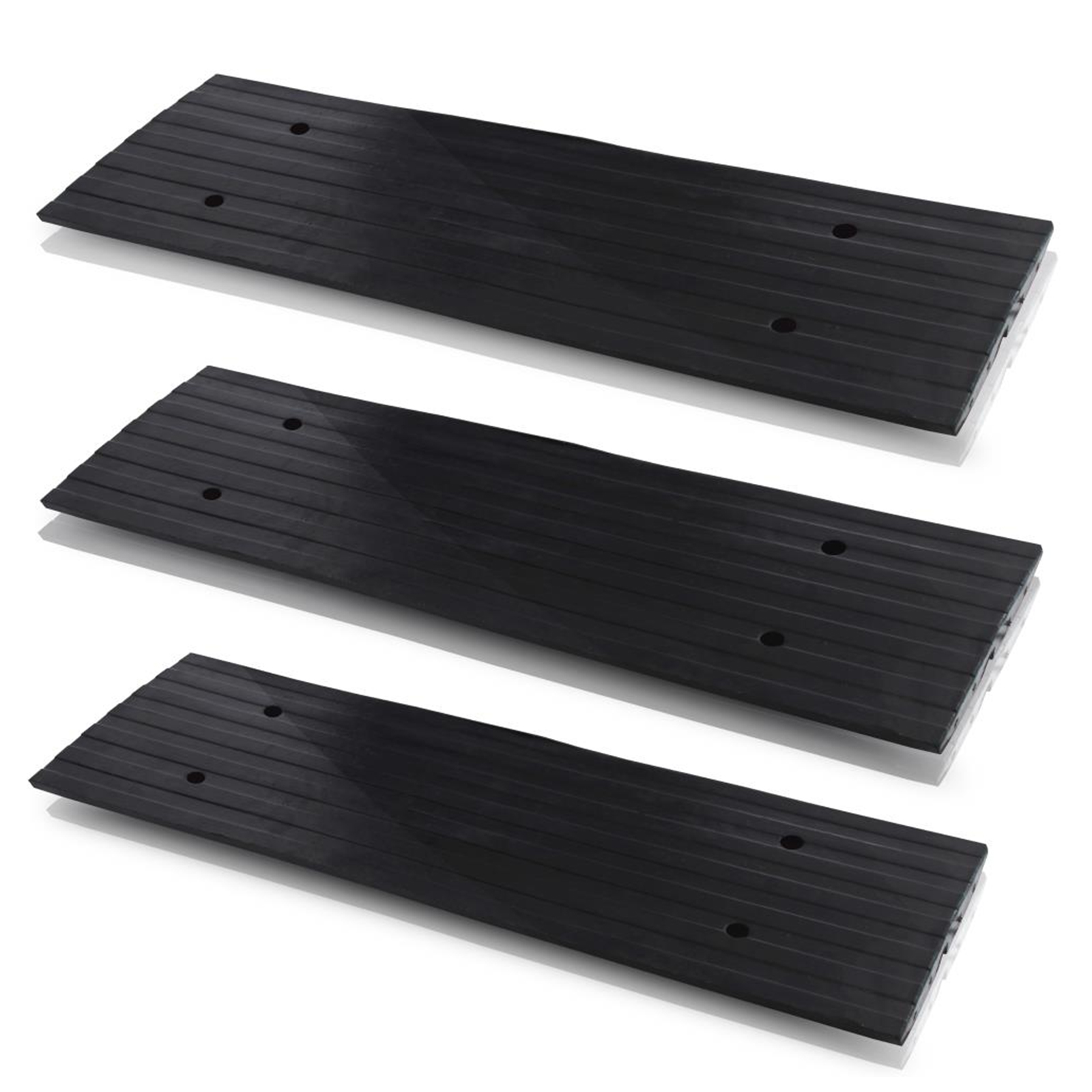 Pyle 3-Piece Vehicle Driveway Curb Ramp