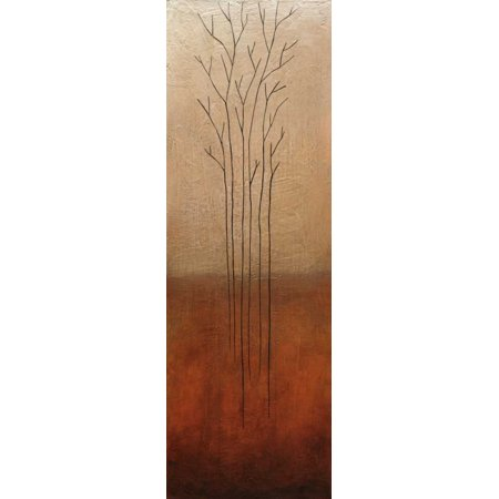 - Branch Rouge Stretched Canvas - Eve (12 x 36)