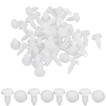 Father' s Day Gift l Car Door Panel White Plastic Rivets Bumpers 8.7mm Hole for