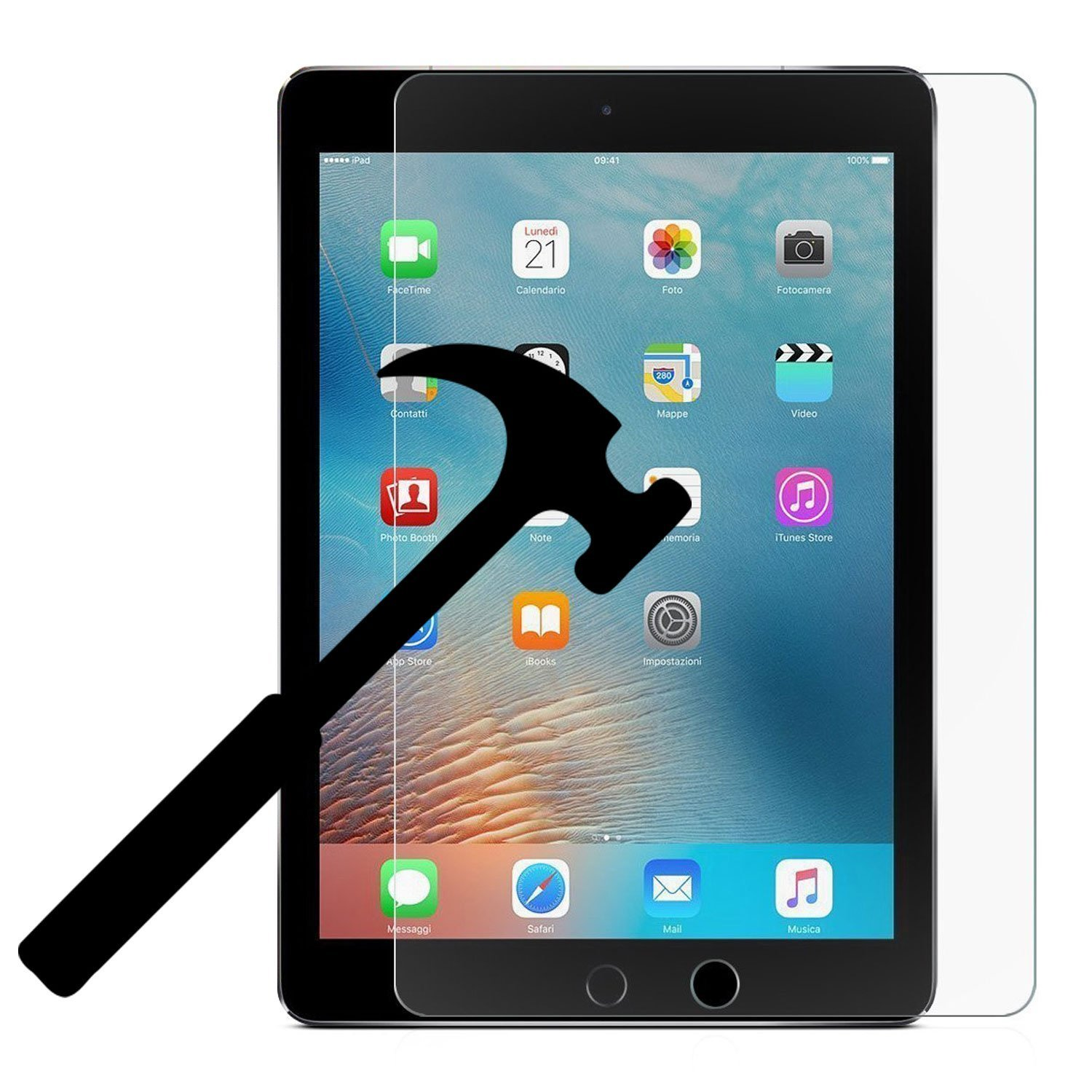 New iPad 9.7 inch (2018/2017)/iPad Pro 9.7/iPad Air 2/iPad Air EpicGadget Tempered Glass Screen Protector Apple Pen Compatible Clear Anti Scratch 9H Hardness Tempered Glass Screen Protector