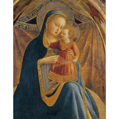 Madonna And Child With Sts John The Baptist Canvas Art - (18...