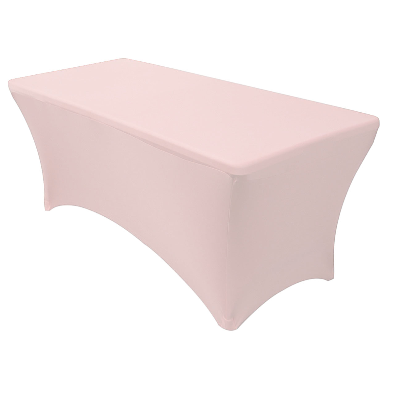 Your Chair Covers Stretch Spandex 6 Ft Rectangular Table Cover Blush For Wedding Party Birthday Patio Etc Walmart Com