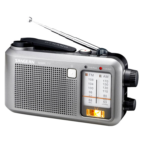Sangean AM/FM Emergency Crank Radio