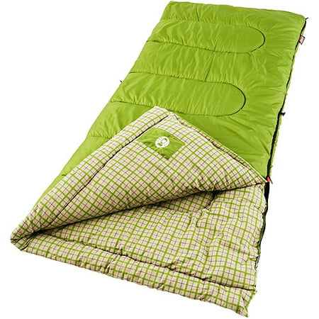 Flannel Sleeping Bags (Coleman Green Valley 40 Degrees Cool Weather Adult Sleeping)