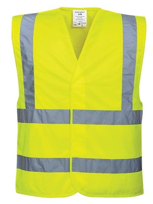 Portwest C470 Large - Extra Large Hi-Visibility Band & Brace Vest, Yellow - Regular