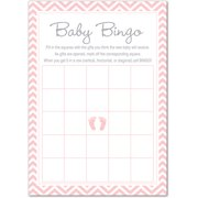 Pink Baby Feet Baby Shower Game - Bingo Cards - 24 count