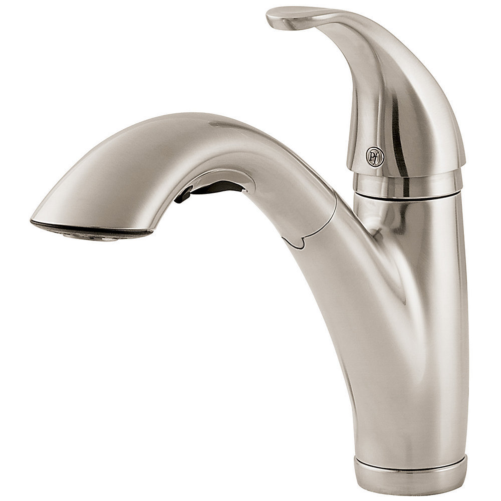Pfister Parisa Pullout Spray 1 3 Kitchen Faucet LG534-7SS Stainless Steel by Overstock