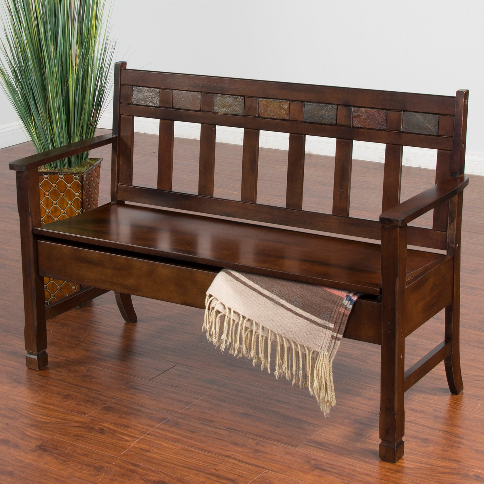 Sunny Designs Santa Fe Bench with Storage
