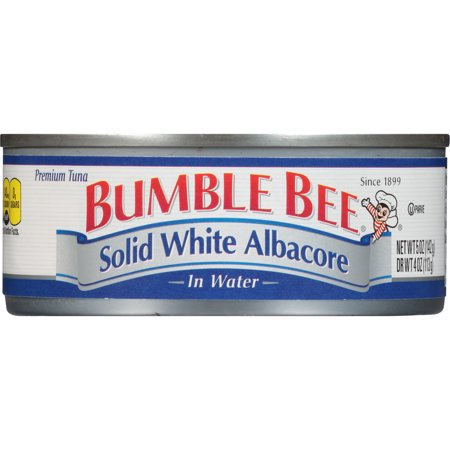 Bumble Bee Solid White Albacore Tuna in Water, 5 Ounce Can, Ready to Eat Tuna Fish, High Protein (Best Way To Eat Canned Tuna)