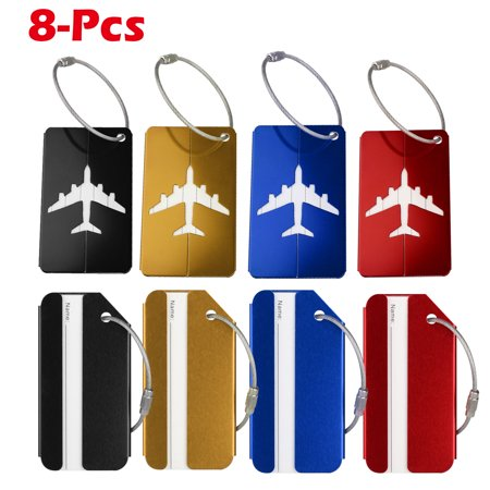 Luggage Tags, Bag Tag Travel Name ID Labels Tag For Baggage Suitcases Bags, 8Pack Luggage Golf Bag Tag