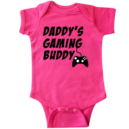 Inktastic Daddy's Gaming Buddy With Controller Infant Creeper Pop Culture Gamer