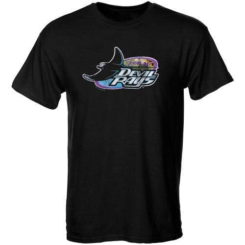 Tampa Bay Rays Youth Cooperstown T-Shirt - Black