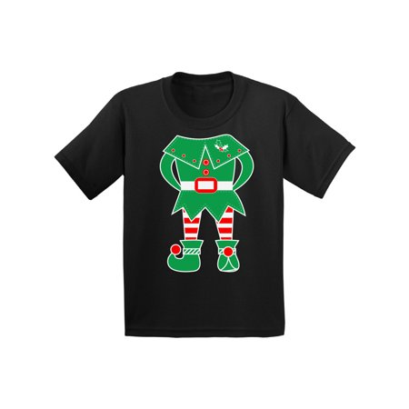 Awkward Styles Christmas Tuxedo Shirt for Kids Funny Santa's Elf Tuxedo Shirt for Children Christmas Graphic Holiday Tee Elf on the Shelf Holiday Youth - Funny Elf