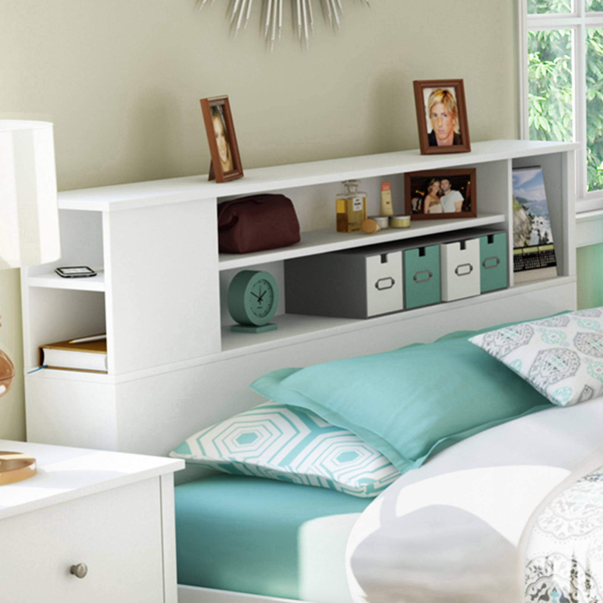 design south office twin shore headboard bed amys pics inspiration bookcase bookshelf breathtaking