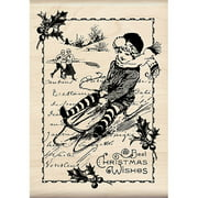 "Inkadinkado Mounted Rubber Stamp 3.5""X5""-Christmas Wishes, Pk 1, Inkadinkado"