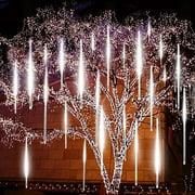 30cm/50cm Falling Rain Light, LHCER Waterproof SMD2835 LED String Lights 8 Tube Meteor Shower Light Christmas Holiday Indoor Outdoor Decor Tree Decoration