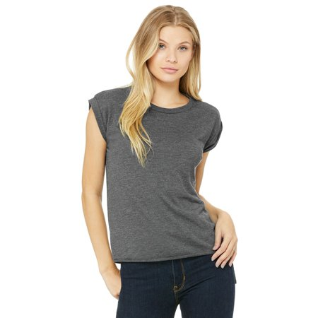 80c121dce Bella + Canvas - Women's Flowy Muscle Tee with Rolled Cuffs - 8804