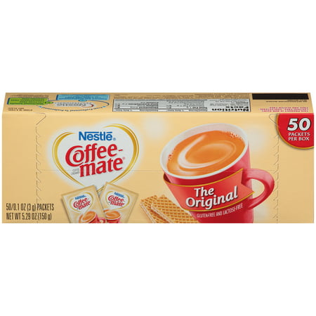 (2 Pack) Nestle Coffee-mate Original creamer packets 50 ct box
