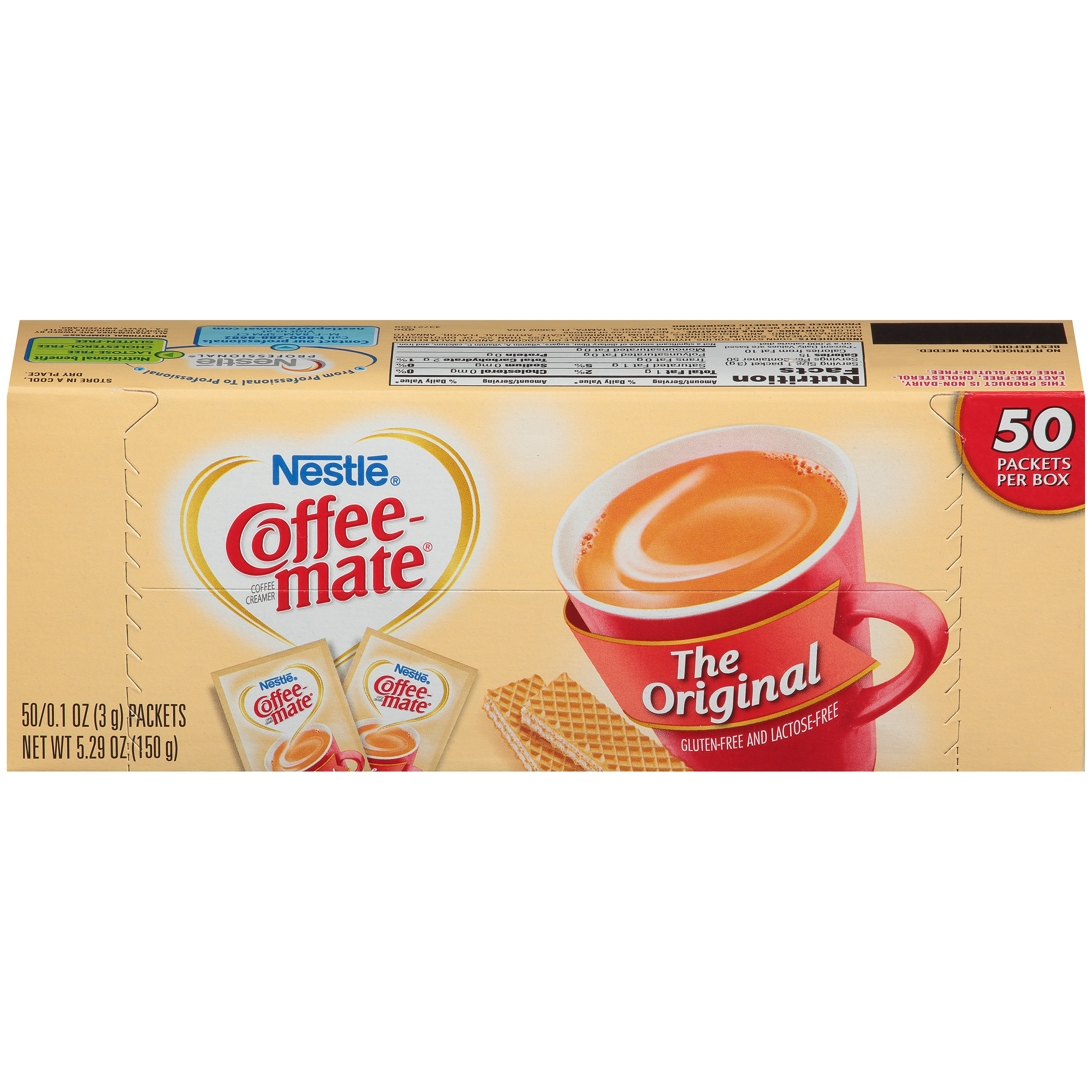 (2 Pack) Nestle Coffee-mate Original creamer packets 50 ct box