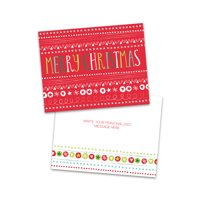 Personalized Varied Stripes Folded Christmas Card