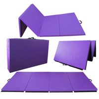 "2"" Thick Tri-Fold Folding Exercise Mat with Carrying Handles for MMA, Gymnastics and Home Gym Protective Flooring"
