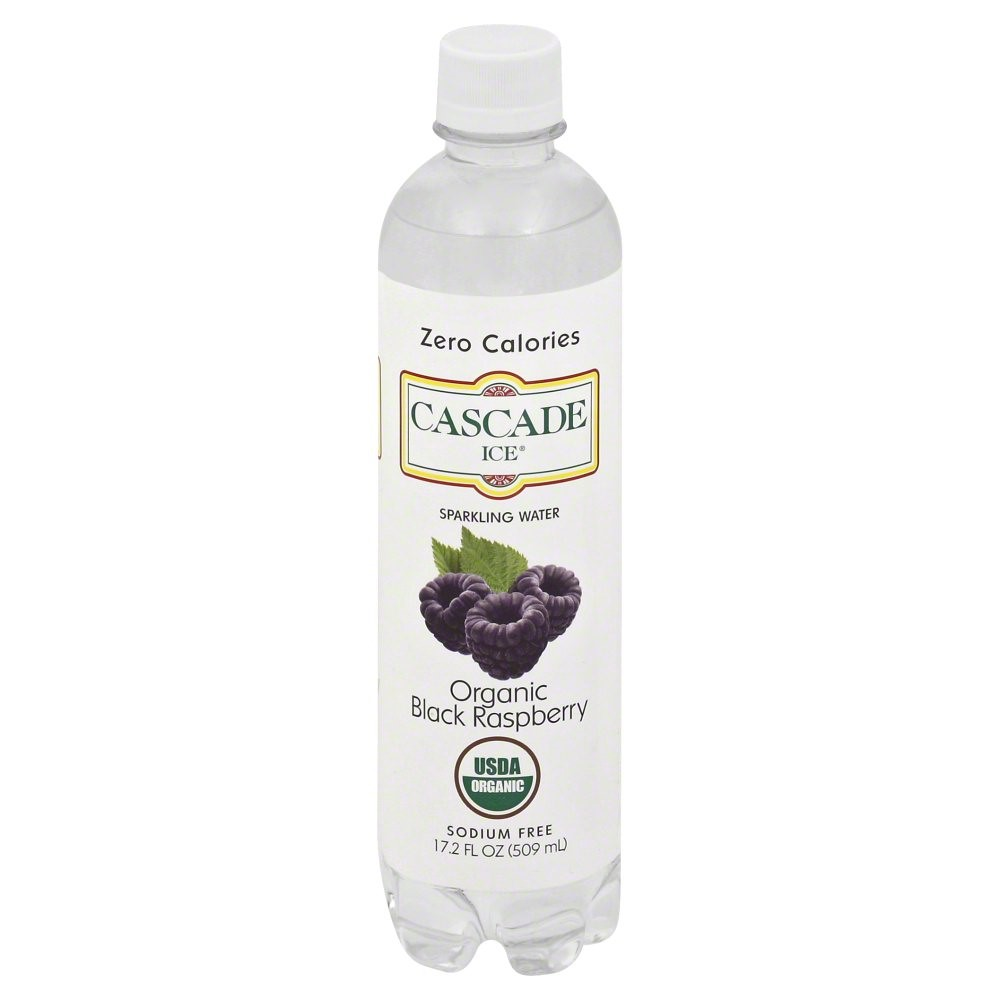 Cascade Ice Naturally Flavored Sparkling Water, Organic Black Raspberry, 17.2 Fl Oz by Cascade Ice