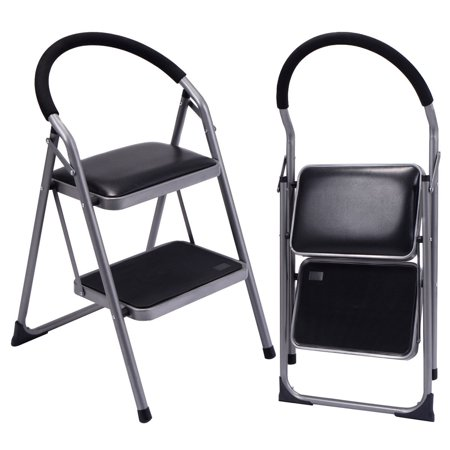 Costway Non Slip 2 Step Ladder Lightweight Folding Stool