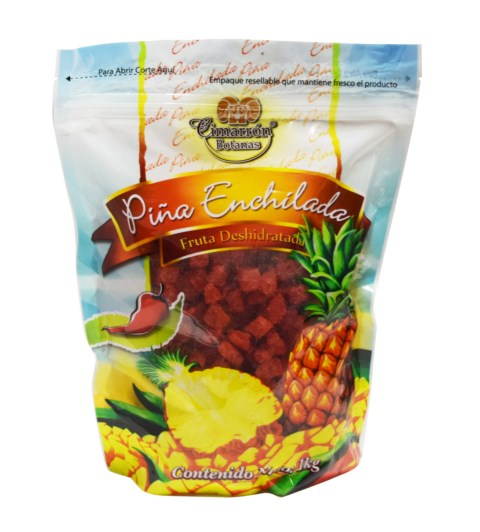 Pina Enchilada Deshidratada 1Kg, dried Pineapple Chile snack, Bag of 2.2 Lb.