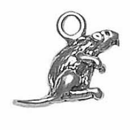 Beaver Jewelry Charm - Sterling Silver 7