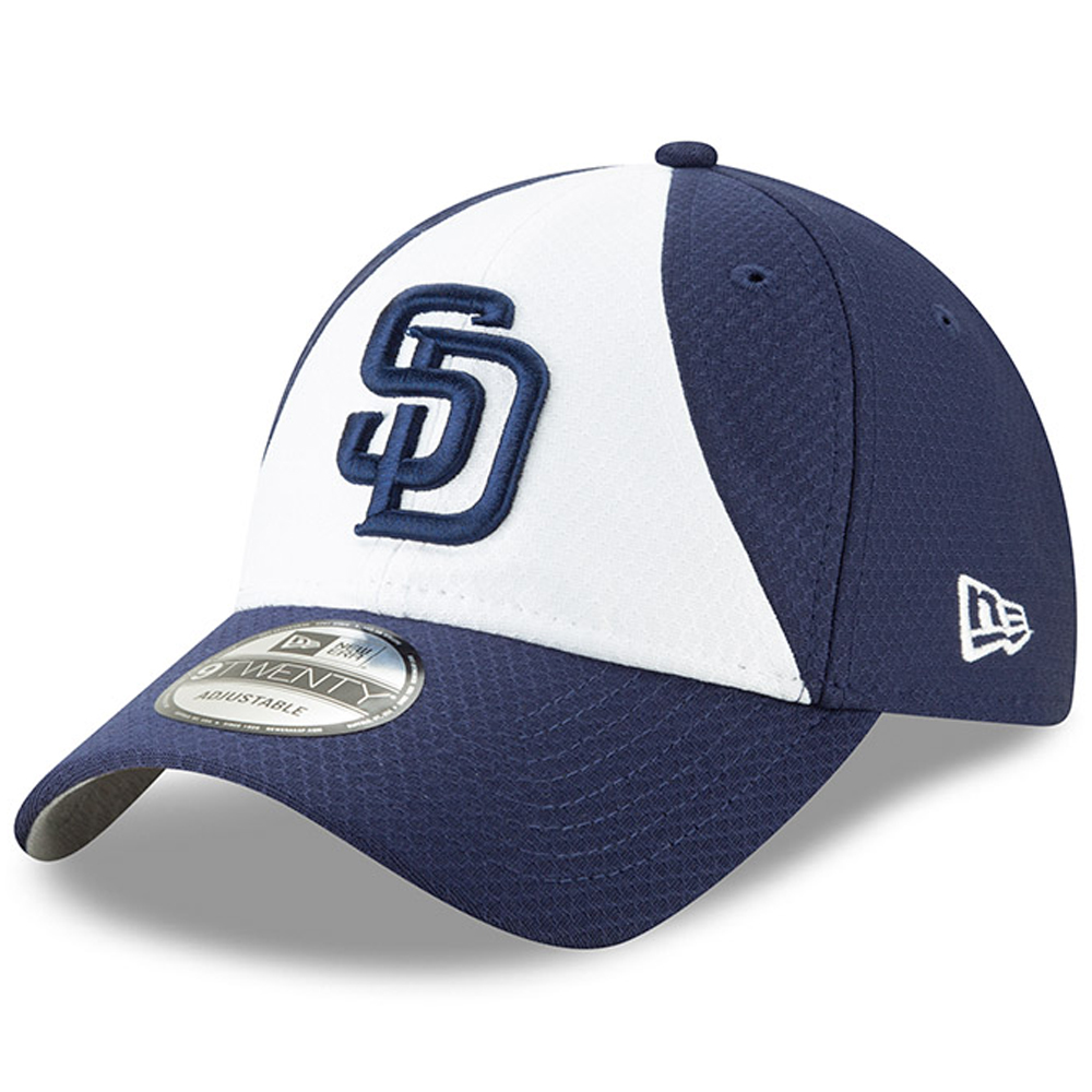 San Diego Padres New Era 2019 Batting Practice 9TWENTY Adjustable Hat - White/Blue - OSFA