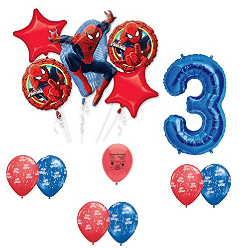 Spider Man Party Supplies 3rd Birthday Party Balloon Decoration Kit