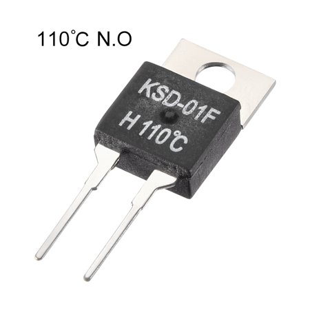 KSD-01F Thermostat, Temperature Controller 110℃ N.O Normal Open 5pcs - image 2 of 3
