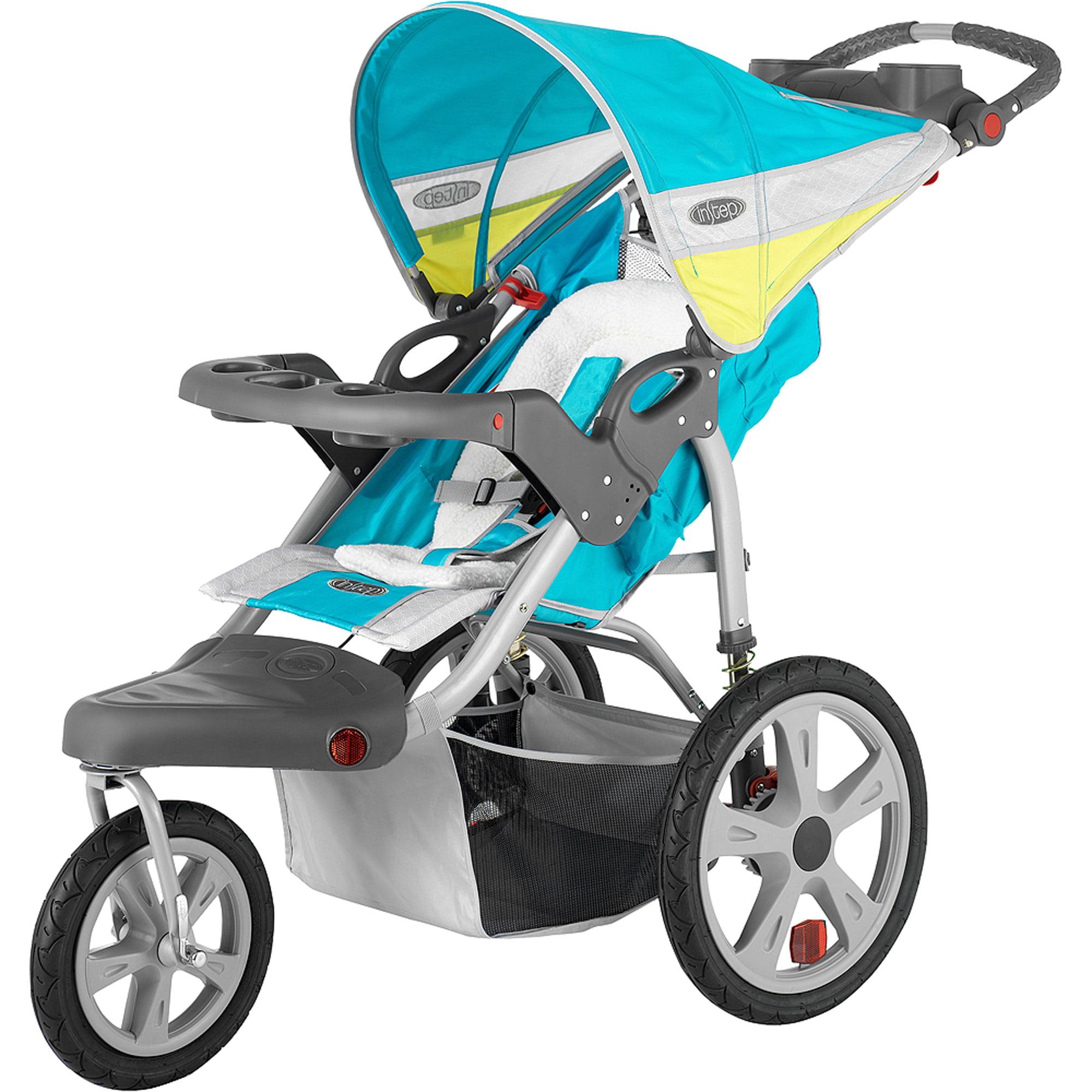 InStep Flash Double Jogger Stroller, Grass/Gray - Walmart.com
