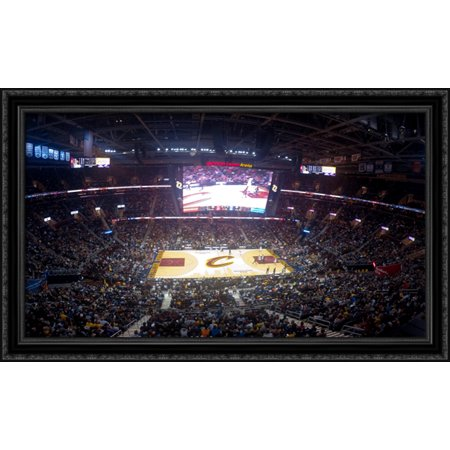 Quicken Loans Arena 40X24 Large Black Ornate Wood Framed Canvas Art   Home Of The Cleveland Cavaliers